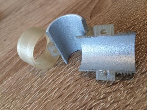 Foto von 3d-Bauteil außen metallisiert (Zn) 2