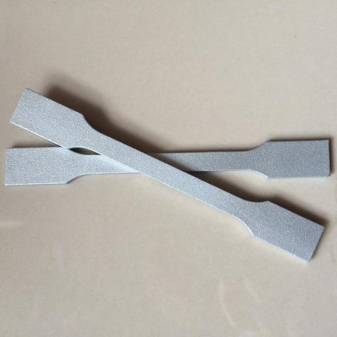 Foto von 3d-Bauteil außen metallisiert (Zugstäbe), (Zn) 2