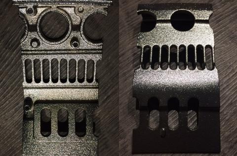 Foto von Aluminium vollständig metallisiert (Zn)